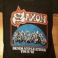 Saxon - TShirt or Longsleeve - Saxon  Denim and Leather tour shirt