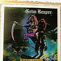"Grim Reaper - Other Collectable - Grim Reaper • Carnival Glass ""Coke"" Mirror • See You In Hell"