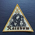 Rainbow - Patch - Rainbow - Long live Rock'n'Roll - Triangle Patch, Gold Border