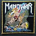 Manowar - Patch - Manowar - Hail to England - Patch, Gold Border
