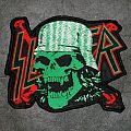 SLAYER - Slaytanic Wehrmacht - DIY Shaped Woven Backpatch