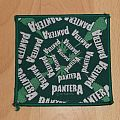 ONLY FOR REVIEW!!! PANTERA - Leafs Logo - Square Green Border Patch