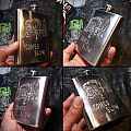 DIY DEATH - Death Comes Slow - engraved stainless steel flask Other Collectable