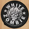 WHITE ZOMBIE - Circular woven Patch © Freakazoid Heaven '88 Licensed by GEM