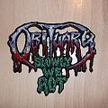 OBITUARY - Slowly We Rot - Shaped Patch