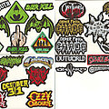 """Obituary - Patch - Small Embroidered Patches - """"O"""""""