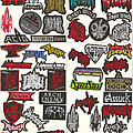 """1349 - Patch - Small Embroidered Patches - """"A Pt I"""""""
