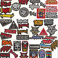 """Rage - Patch - Small Embroidered Patches - """"R Pt I"""""""
