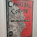 Cannibal Corpse - Other Collectable - Cannibal Corpse original 1995 Australian tour poster