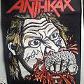 Anthax - Fist Full Of Metal Signed Backpatch