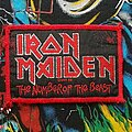 Iron Maiden - Patch - Iron Maiden 'The Number Of The Beast' Red Border Woven Tour Patch 1982