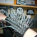 Black metal spikes