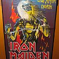 "IRON MAIDEN ""Live After Death"" vintage backpatch"