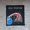 RAINBOW Down To Earth square vintage woven patch (coloured version)