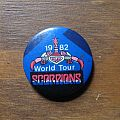 SCORPIONS 1982 World Tour vintage button Pin / Badge