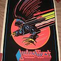 """JUDAS PRIEST """"Screaming For Vengeance"""" 1983 black light poster Other Collectable"""