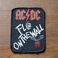 AC/DC Fly On The Wall (keyhole / white-red-gold version) vintage printed patch
