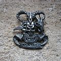 OZZY OSBOURNE No Rest For The Wicked original cast pewter brooch Pin / Badge