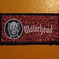 MOTÖRHEAD Snaggletooth red glittery background vintage woven patch