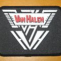Van Halen - Patch - VAN HALEN red & white logo vintage printed patch