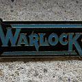 WARLOCK logo original pin back Pin / Badge