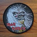 IRON MAIDEN Live After Death (Eddie's head) original woven circle patch (black border)