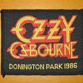"""Ozzy Osbourne - Patch - OZZY OSBOURNE """"Donington Park 1986"""" original woven patch"""