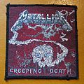 "METALLICA ""Creeping Death"" original woven patch (black border)"