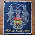 DIO World Tour 1986 original woven patch (grey border)