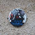 BLACK SABBATH thinking demon vintage button Pin / Badge