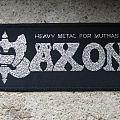 SAXON Heavy Metal For Muthas original woven strip Patch