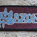 Saxon - Patch - SAXON purple/blue logo vintage woven mini-strip