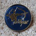 Ted Nugent - Pin / Badge - TED NUGENT Bowman vintage crystal/enameled badge