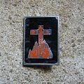 BLACK SABBATH burning cross vintage badge Pin / Badge