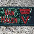 Van Halen - Patch - VAN HALEN glittery green vintage woven mini-strip