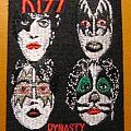 "KISS ""Dynasty"" iron-on felt patch"