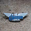 SAXON eagle vintage enameled brooch Pin / Badge