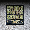 KING'S X Faith Hope Love original woven patch