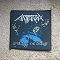 ANTHRAX Spreading The Disease vintage woven patch