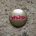 Judas Priest - Pin / Badge - JUDAS PRIEST logo (bronze background) vintage prismatic button