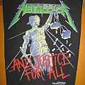 """METALLICA """"...And Justice For All"""" original backpatch *SOLD*"""