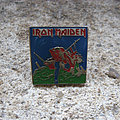 IRON MAIDEN The Trooper vintage enameled pin