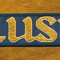 RUSH golden name vintage woven mini-strip Patch