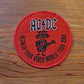 AC/DC Blow Up Your Video World Tour 1988 vintage woven patch