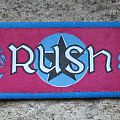 """RUSH Fly By Night / 2112 vintage printed """"satin"""" mini-strip Patch"""