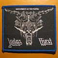 "JUDAS PRIEST ""Defenders of the Faith"" original patch (grey design / blue border)"