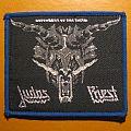 """JUDAS PRIEST """"Defenders of the Faith"""" original patch (grey design / blue border)"""