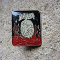 SLAYER South Of Heaven SMALL original pin back Pin / Badge