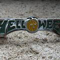 HELLOWEEN green and yellow logo original cast pin back