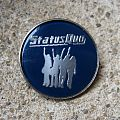 "STATUS QUO ""Hello!"" vintage crystal/enameled badge (blue background) *SOLD*"